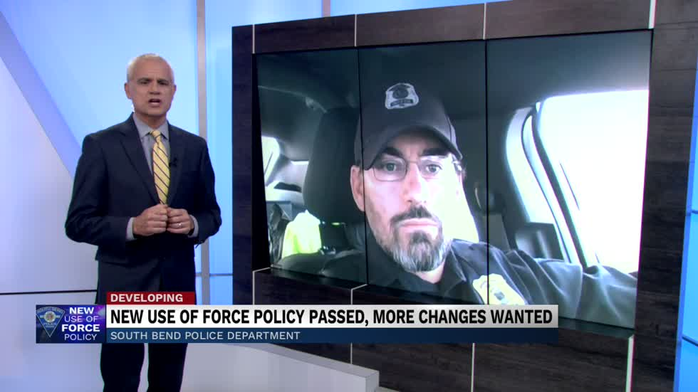 Patrolman First Class Josh Morgan discusses the recently revised South Bend Use of Force policy