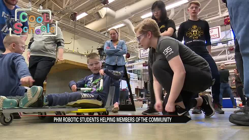 Cool Schools: Penn High School students build special scooter for boy with joint disease