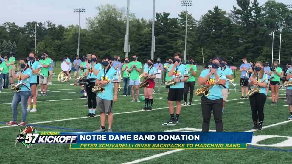 Peter Schivarelli continues to give back to Notre Dame marching band