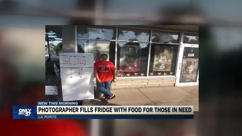 LaPorte photographer fills fridge with food for those in need