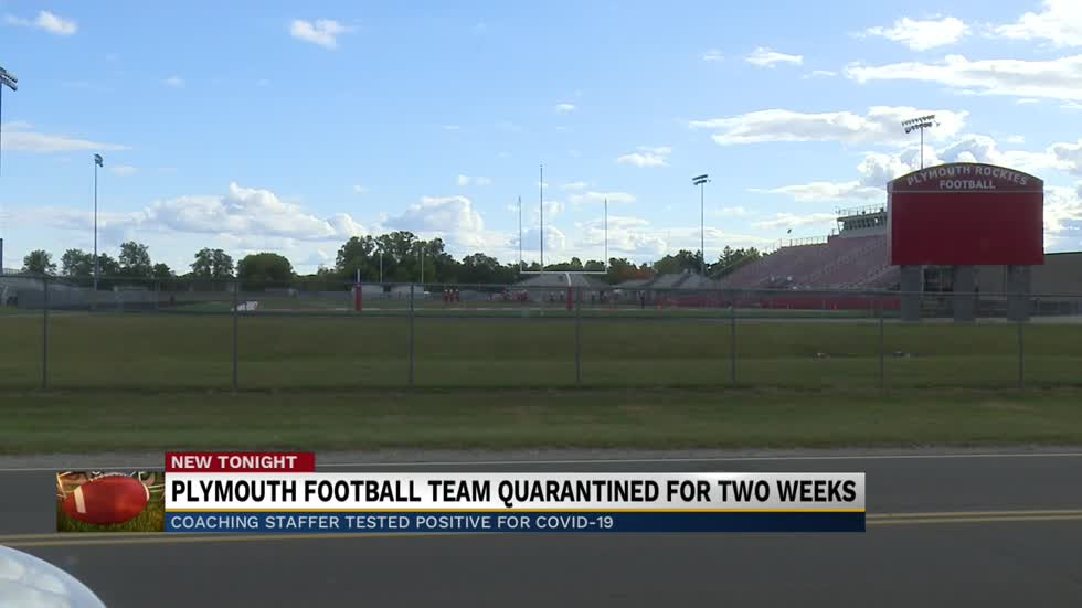 Plymouth High School Football shut down for two weeks due to...