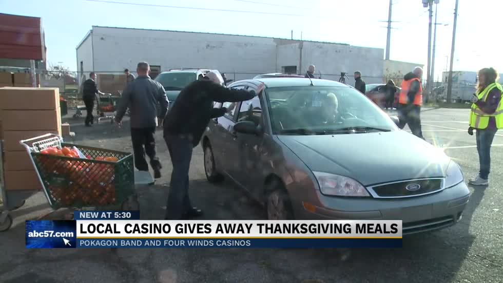 Pokagon Band and Four Winds Casino donate Thanksgiving meals to families in need