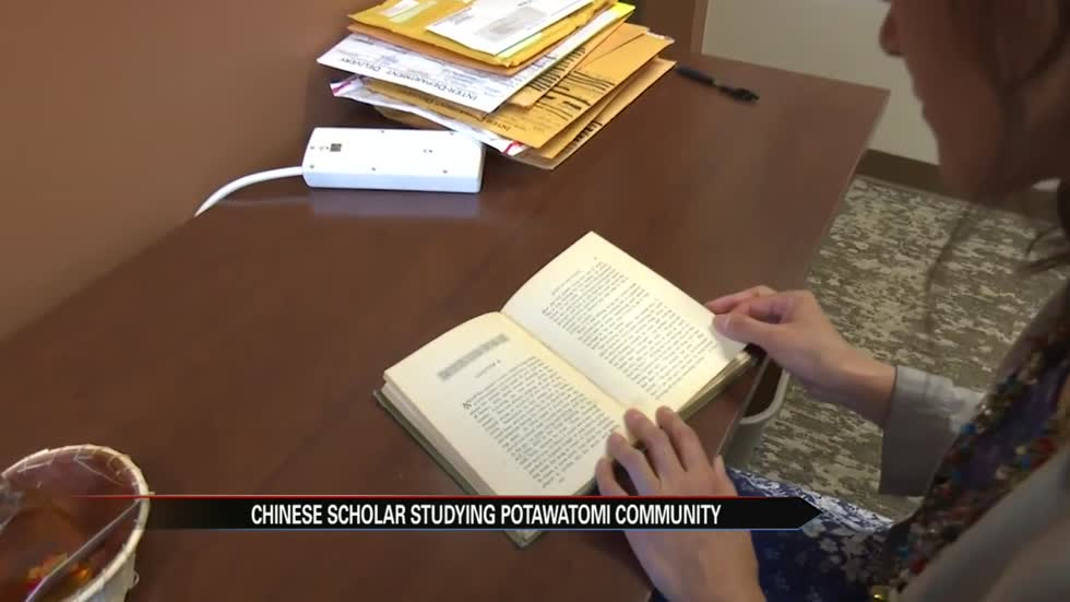 Chinese scholar studying Potawatomi community