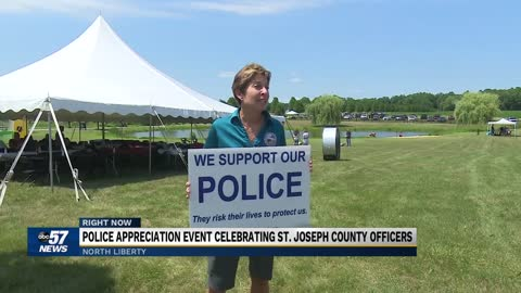 Police appreciation event held in North Liberty