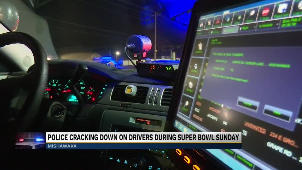Police cracking down on drivers during Super Bowl Sunday