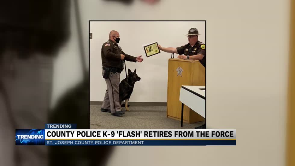 Police K-9 for St. Joseph County retires after years of service