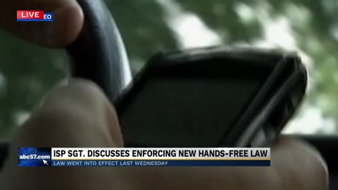 Police talk about new phone laws in Indiana