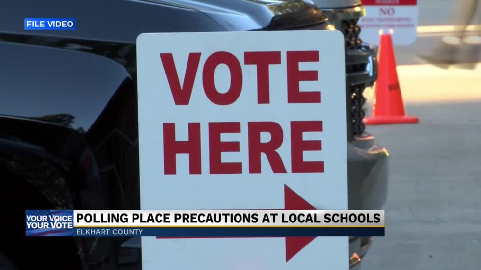 Polling place precautions at local schools