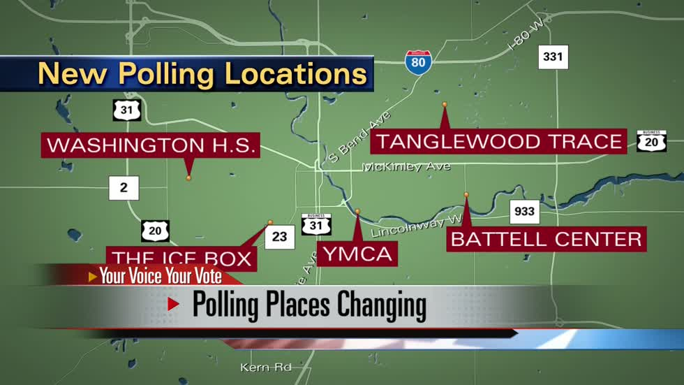 Polling places changing in St. Joseph County