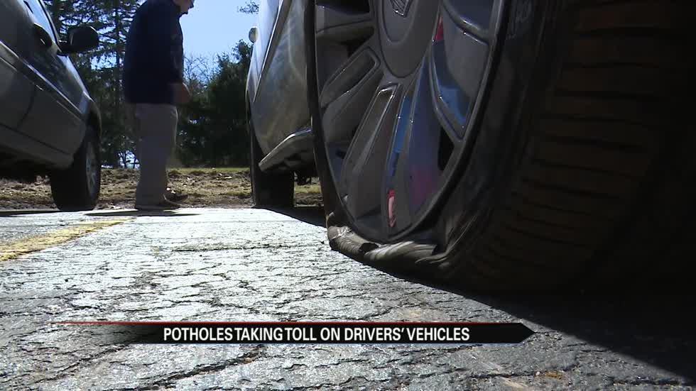 Pothole problems damaging cars; swamping auto service shops