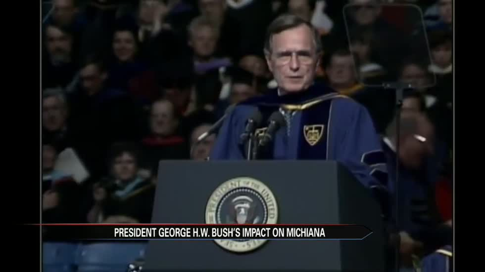 Michiana community members remember President George H.W. Bush