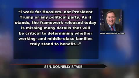President Trump calls out Senator Donnelly during speech