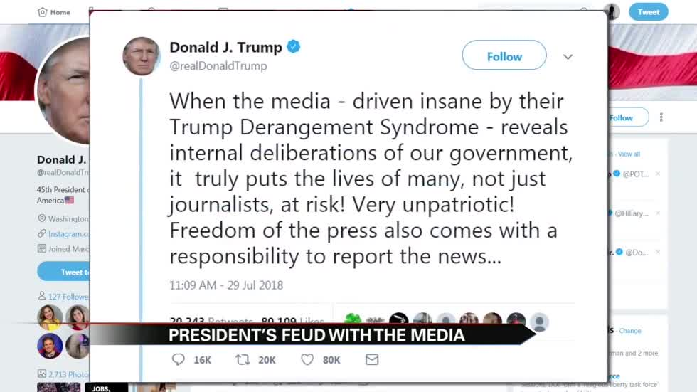 President Trump's feud with the media continues