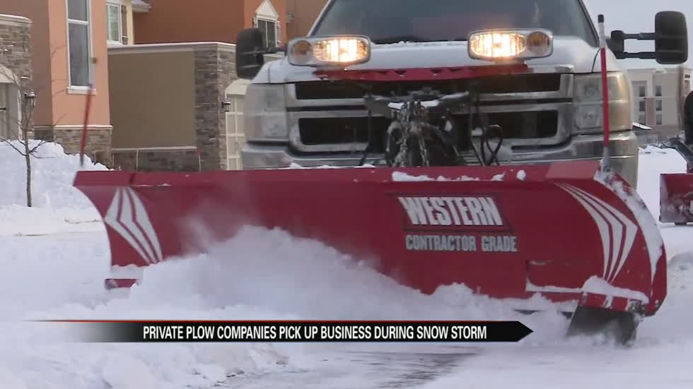 Private snow plow companies see increased business during snow storm