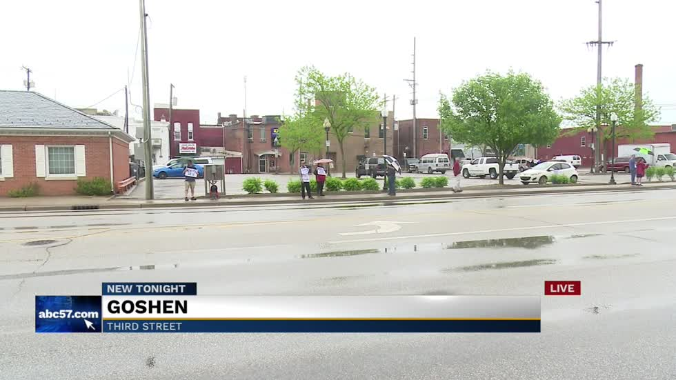 Protest held against homeless relocation in Goshen