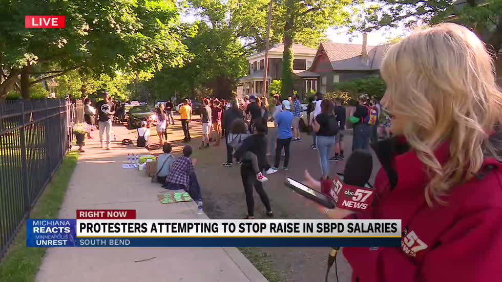 Protesters attempting to stop raise in SBPD salaries