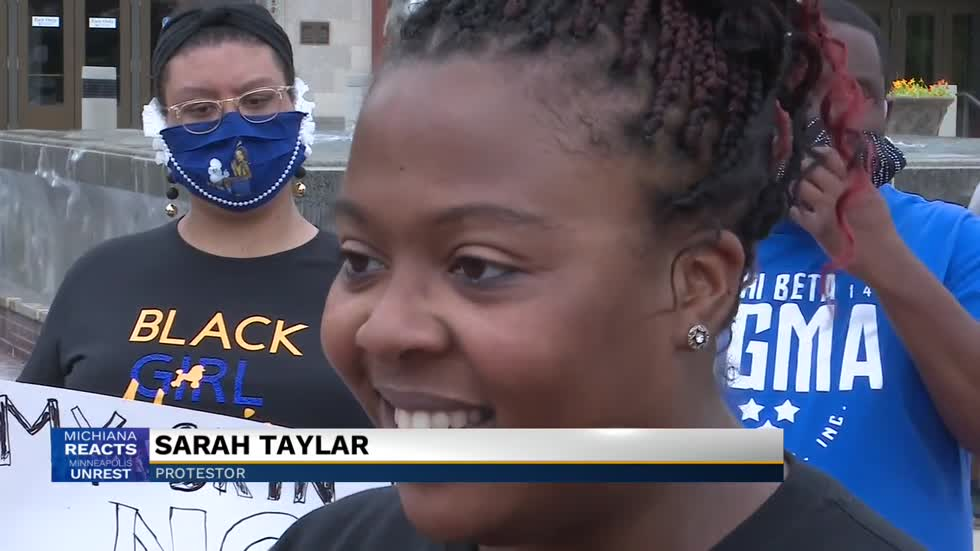 Protesters gather in South Bend demanding justice for George Floyd