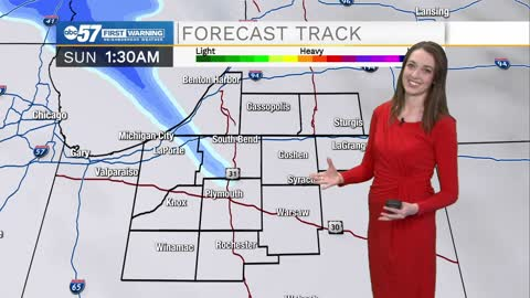 Quiet start to weekend; still tracking Monday snow
