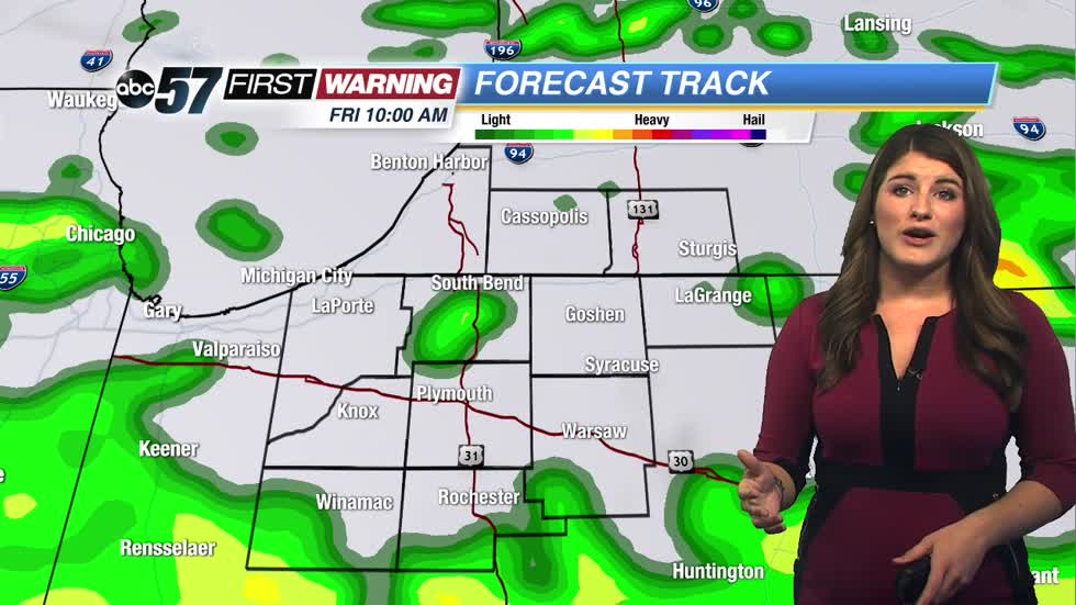 More rain through Saturday