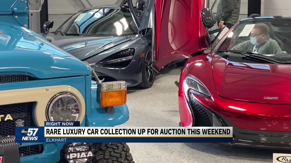 Rare luxury car collection set to be auctioned in Elkhart this...