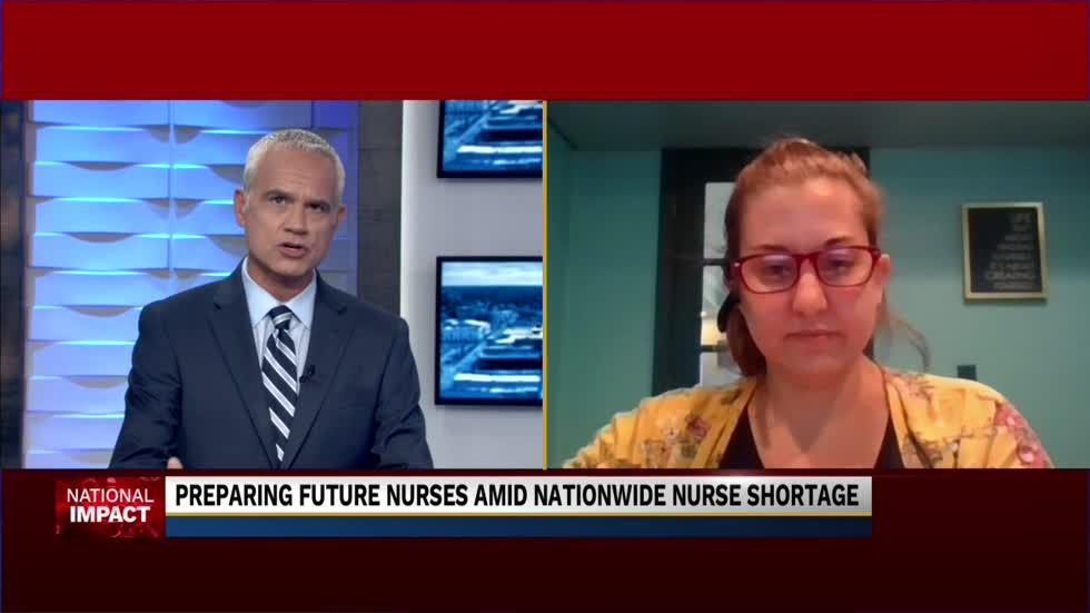 Registered Nurse and teacher speaks on the nationwide nursing shortage