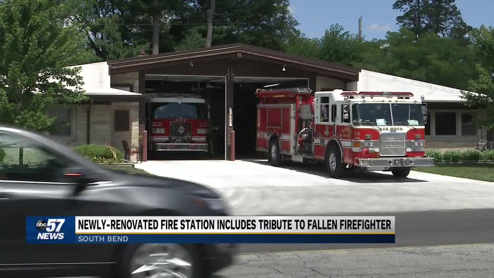 Renovated South Bend Fire Station honors fallen firefighter