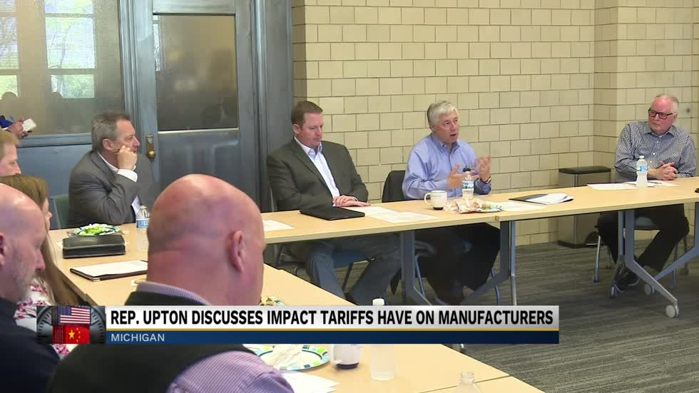 Rep. Upton speaks on trade war