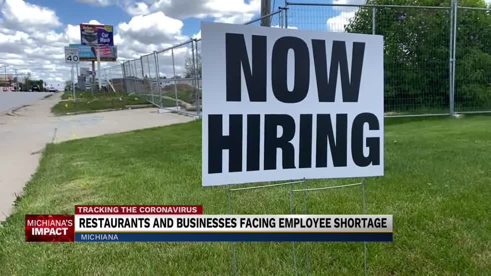 Restaurants and businesses facing employee shortage