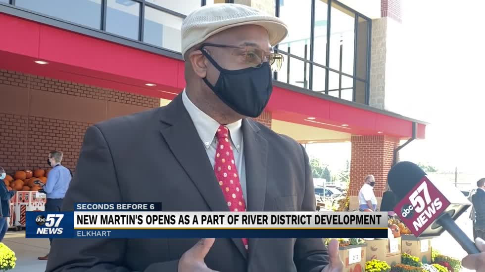 Ribbon cutting for new Martins Supermarket as Elkhart revitalizes downtown