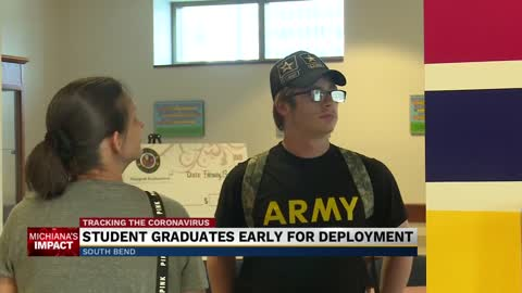 Riley HS senior leaving for Army gets special graduation ceremony