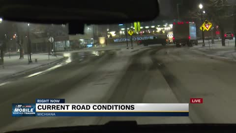 Roads remain slick through morning commute after Michiana snowfall