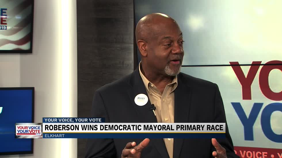 Roberson discusses winning Democratic nomination for Elkhart mayor