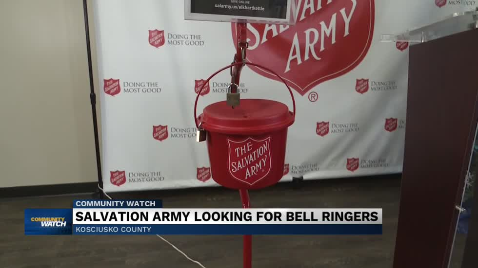 The Salvation Army looking for bell ringers in Kosciusko County