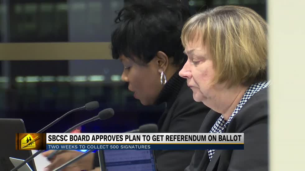 SBCSB approves referendum; Now they need 500 signatures to get it on the ballot