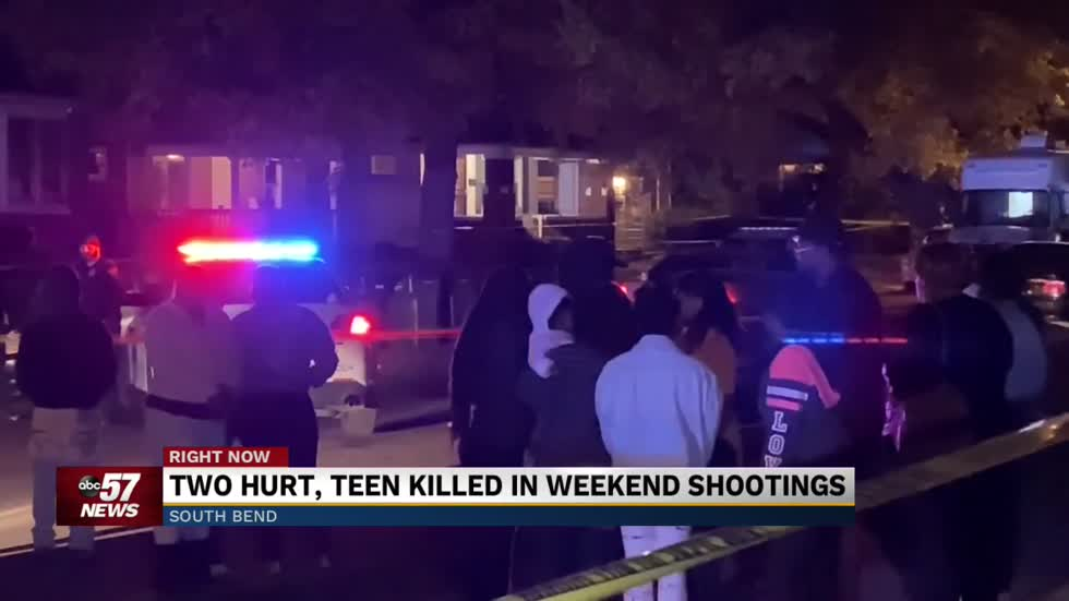 Violent weekend in South Bend leaves 1 teen dead and 2 people injured