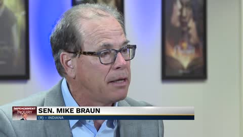 Senator Braun discusses impeachment inquiry, tariffs