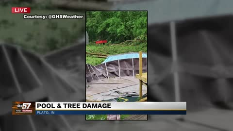 Trees, downed power lines reported in La Grange County due to high winds