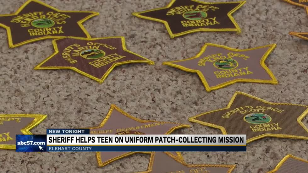 Sheriff helps local teen collect state-wide uniform patches