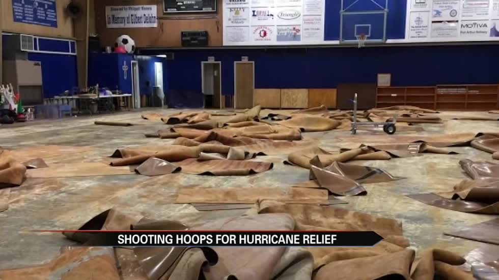 Shooting hoops for hurricane relief