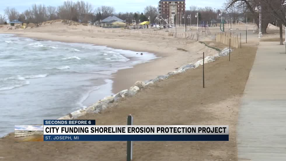 Silver Beach shoreline restoration project nearly finished