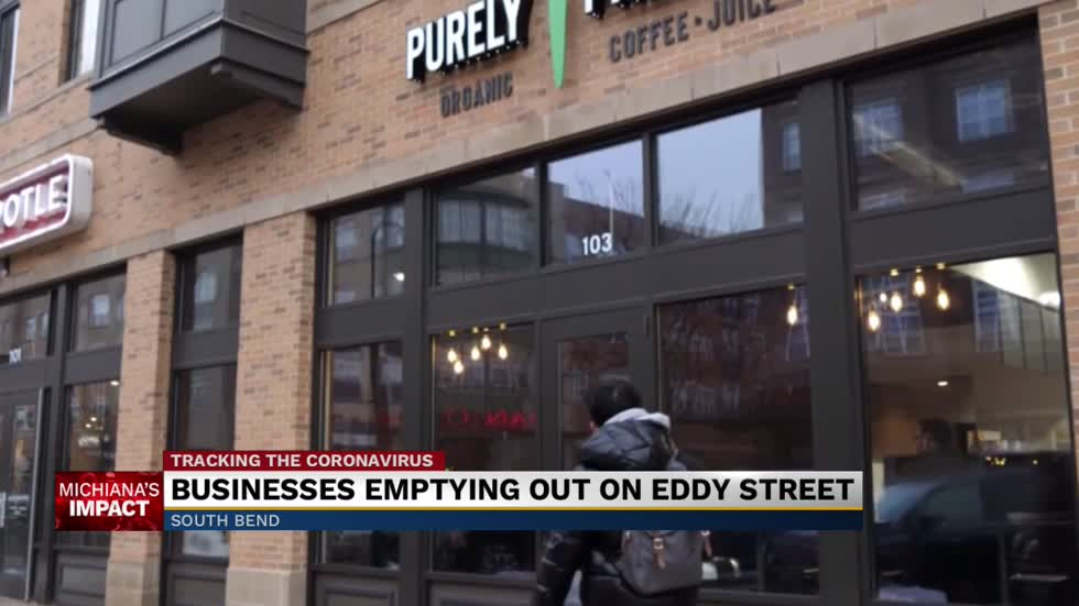 Small businesses on Eddy Street struggling without students in town