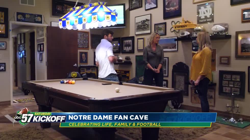Smith family shares Charlie Smith's Notre Dame fan cave