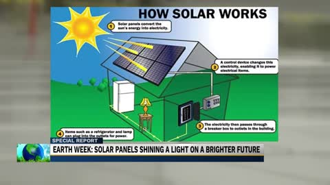 Earth week: Solar panels shining a light on a brighter future