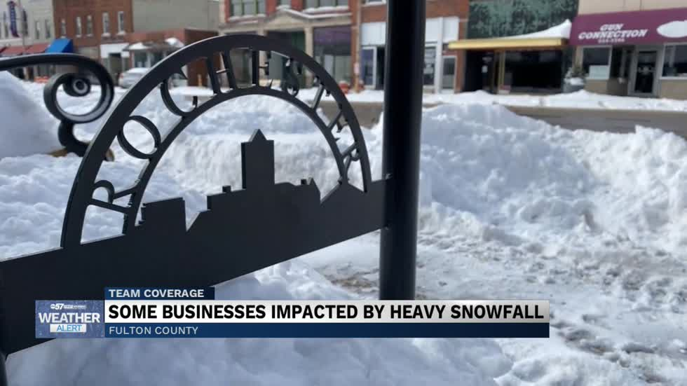 Some businesses impacted by heavy snowfall