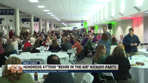 "South Bend Airport hosts party for ""Bears in the Air"" program"