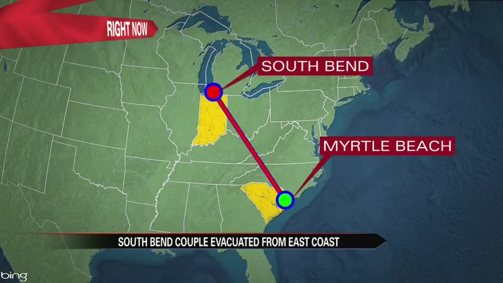 South Bend couple evacuated from Myrtle Beach hotel