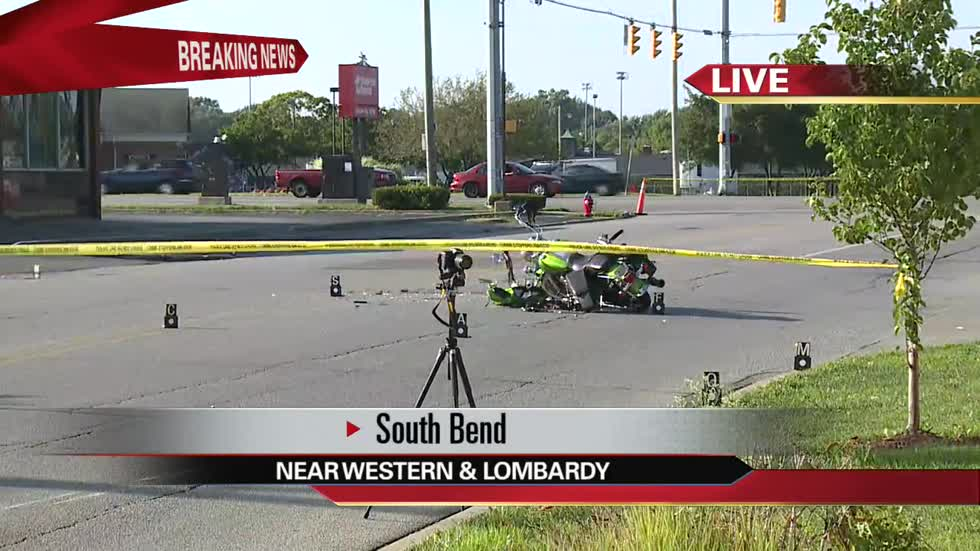 One injured in South Bend motorcycle crash