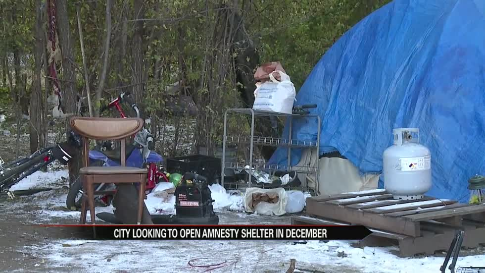 South Bend homeless camping out near weather amnesty site