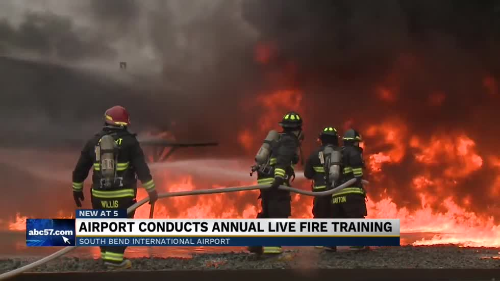South Bend International Airport conducts annual live fire training