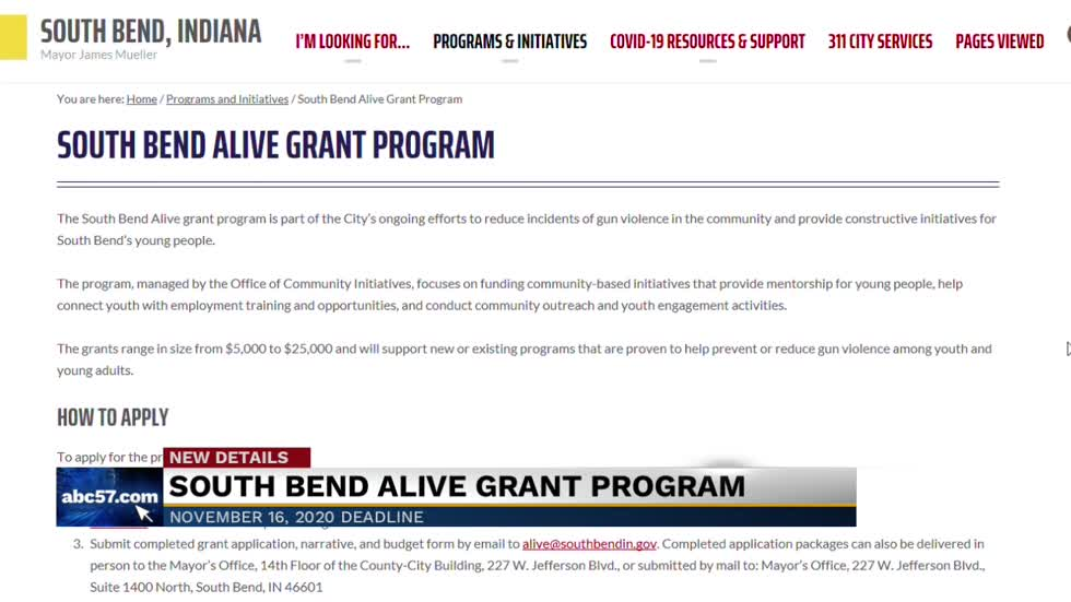 South Bend is launching the Alive Grant Program